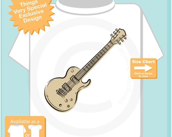 Guitar Shirt, Electric Guitar Sketch T-Shirt or Onesie for the guitarist, Music Musician shirt(10222015b)