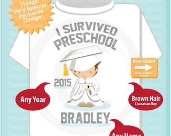 Personalized I Survived Preschool Shirt Preschool Graduate Shirt Child's Last day of School Shirt 05202019a