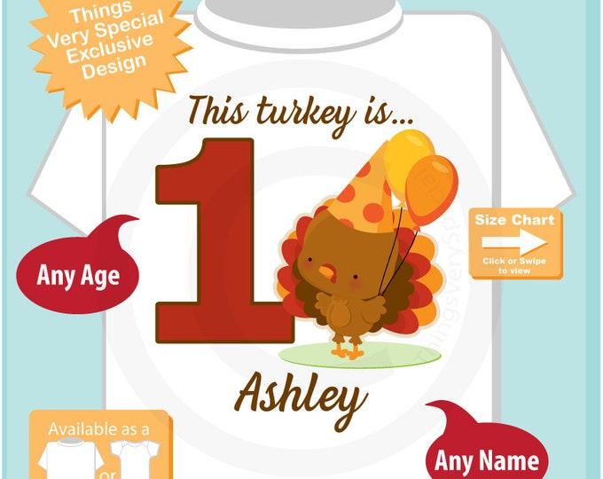Turkey Birthday shirt - Birthday Girl shirt - Turkey Thanksgiving birthday party theme 10102018bz