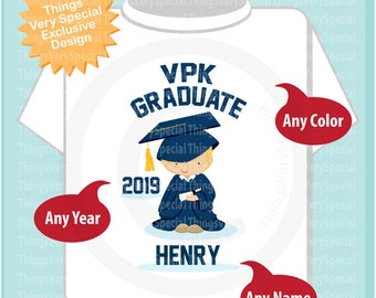 Personalized VPK Graduate Shirt Voluntary Pre-K Graduation Shirt Child's Last day of School Shirt 03152019c