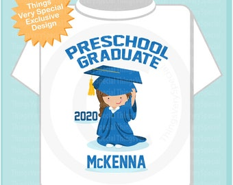 Preschool Graduate Shirt, Preschool Graduation Shirt, Personalized for your little girl with year and name 05232020a