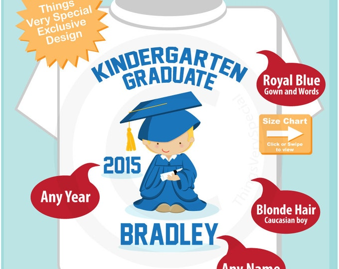 Personalized Kindergarten Graduate Shirt, Cute Boy Kindergarten Graduate Shirt (05222014e)