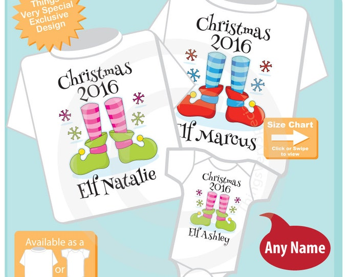Matching Christmas Outfits - Christmas Outfits for Big Brother Middle Sister and Little Sister - T-shirt or Onesie 11152016i