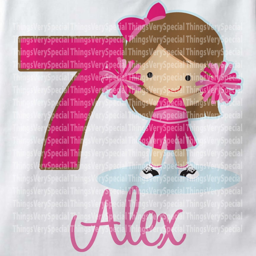 Cheerleader Seventh Birthday Shirt 7th Can Be Any