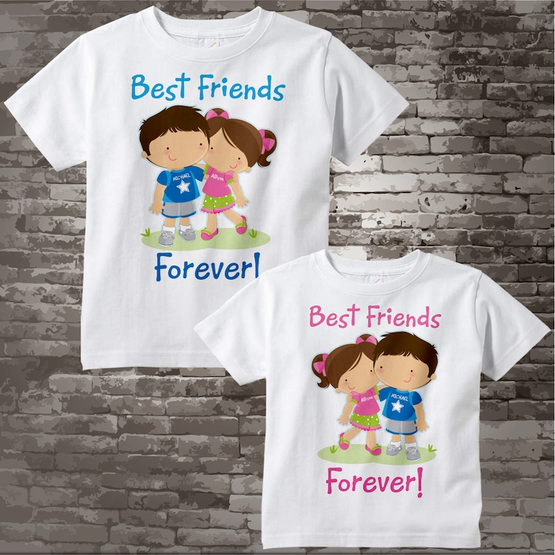 8e794ec57 Set of Two Personalized Best Friends Forever Shirt or Onesie | Etsy