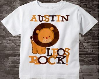 Leo Lion Shirt or Onesie, Leos Rock Lion July or August Birthday Baby Tee Shirt or Onesie 08022011a