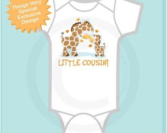 Personalized Cute Little Gender Neutral Cousin Giraffes Onesie or Tee Shirt   03052014c