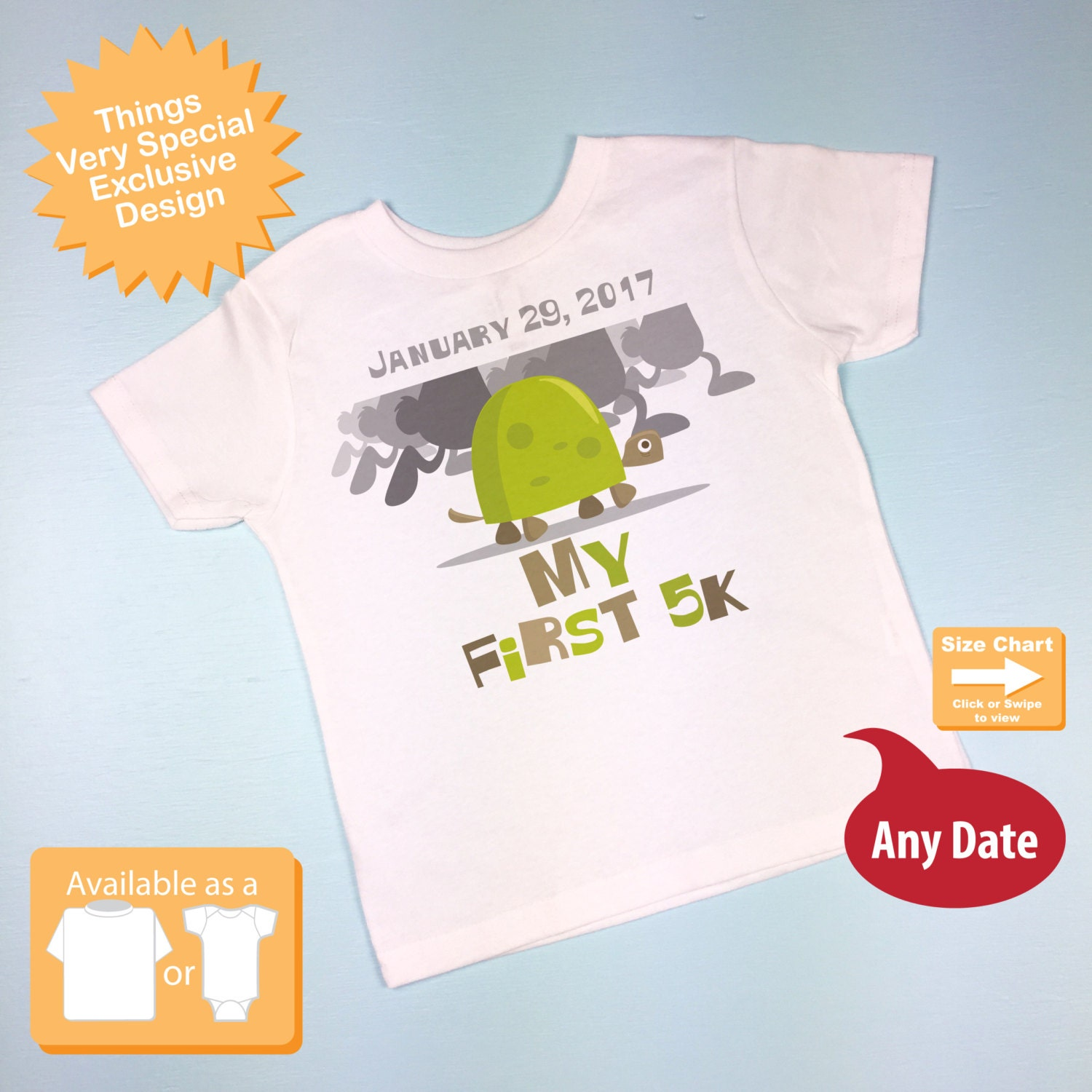 My First 5k Running Tee Shirt Or Onesie 09292014d