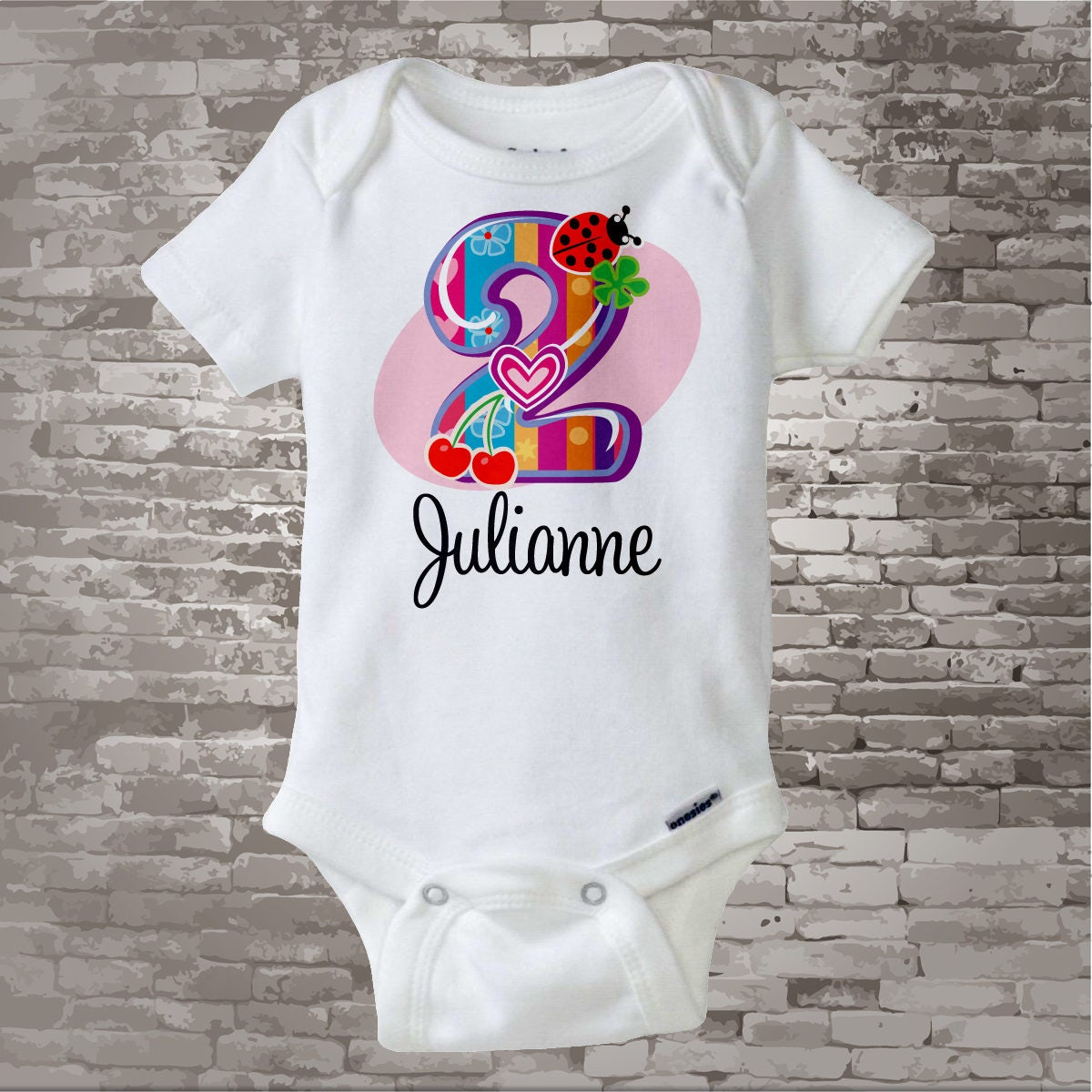 Second Birthday Shirt Fancy Number 2nd Onesie Personalized Girls Two Year Old Name Tee Or 12082011f