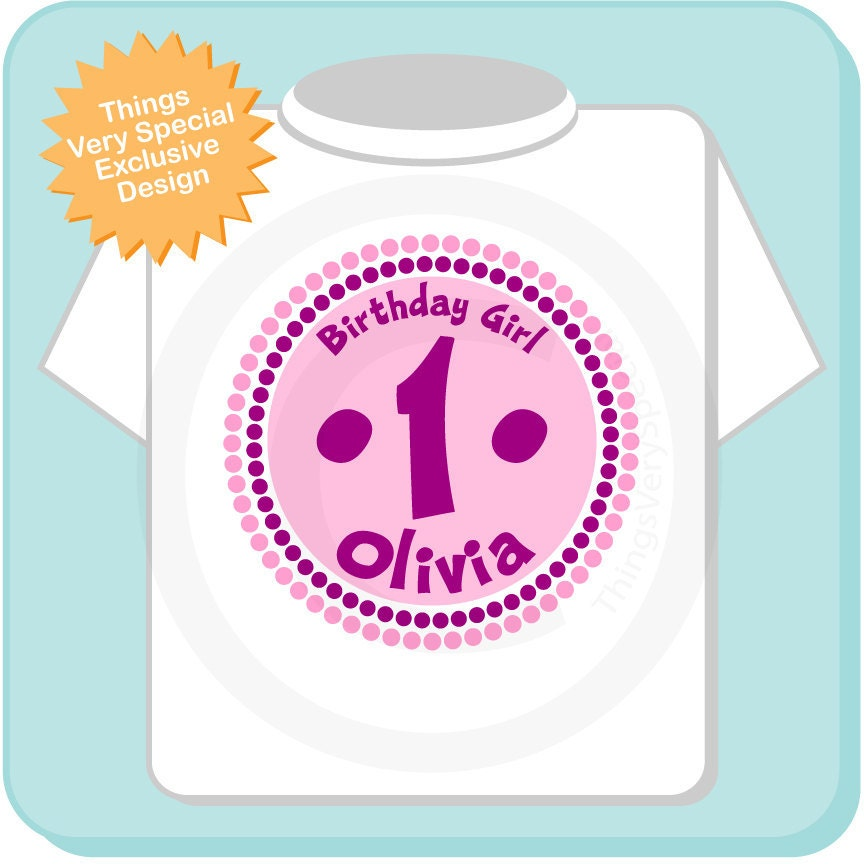 First Birthday Shirt 1 Year Old Birthday Pink And Purple