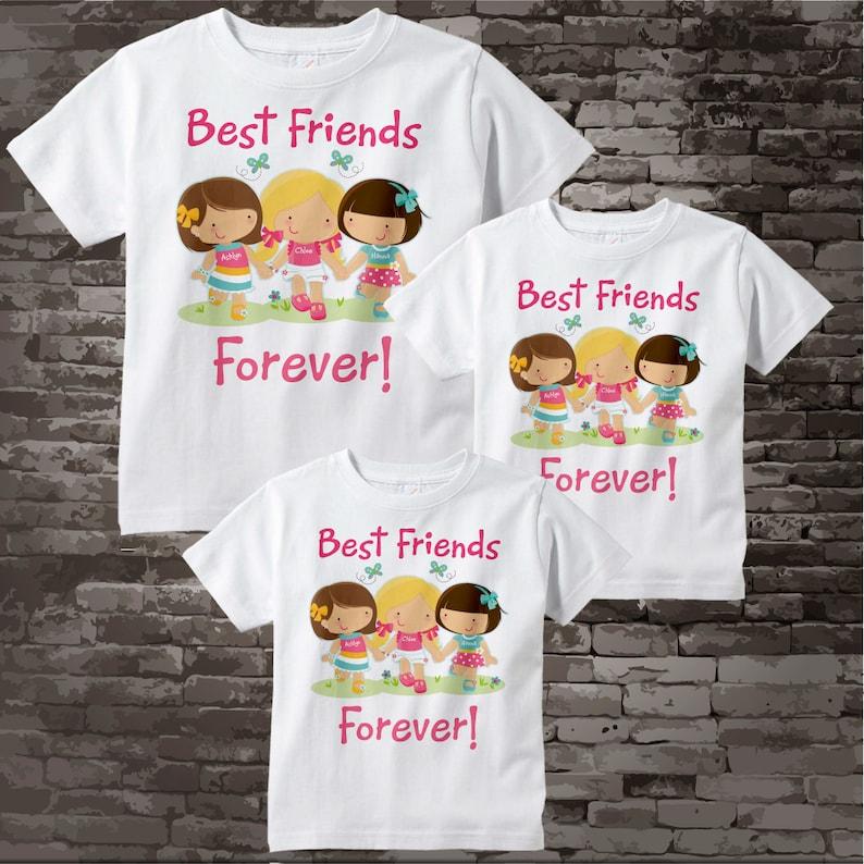 890957f24 Set of Three Best Friends Tee Shirts or Onesies. Three Little