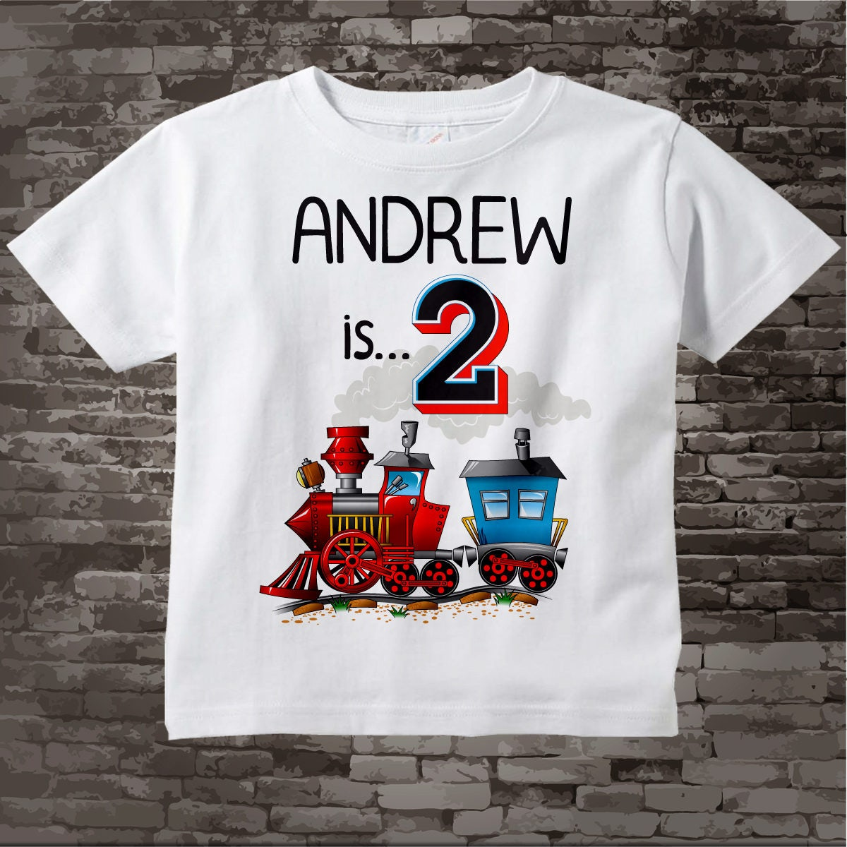Train Birthday Boy Shirt