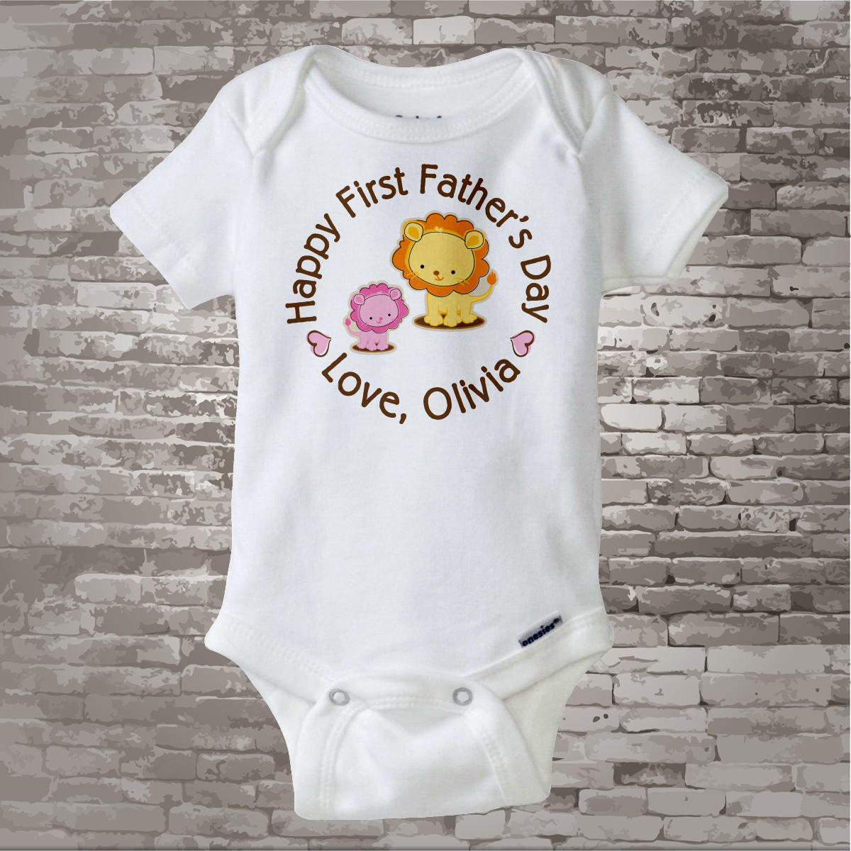 7c1b8eba Happy First Father's Day, 1st Fathers Day with Father and Daughter Lions  Personalized DadTee Shirt or Onesie New Dad Gift 06032014f. gallery photo  ...