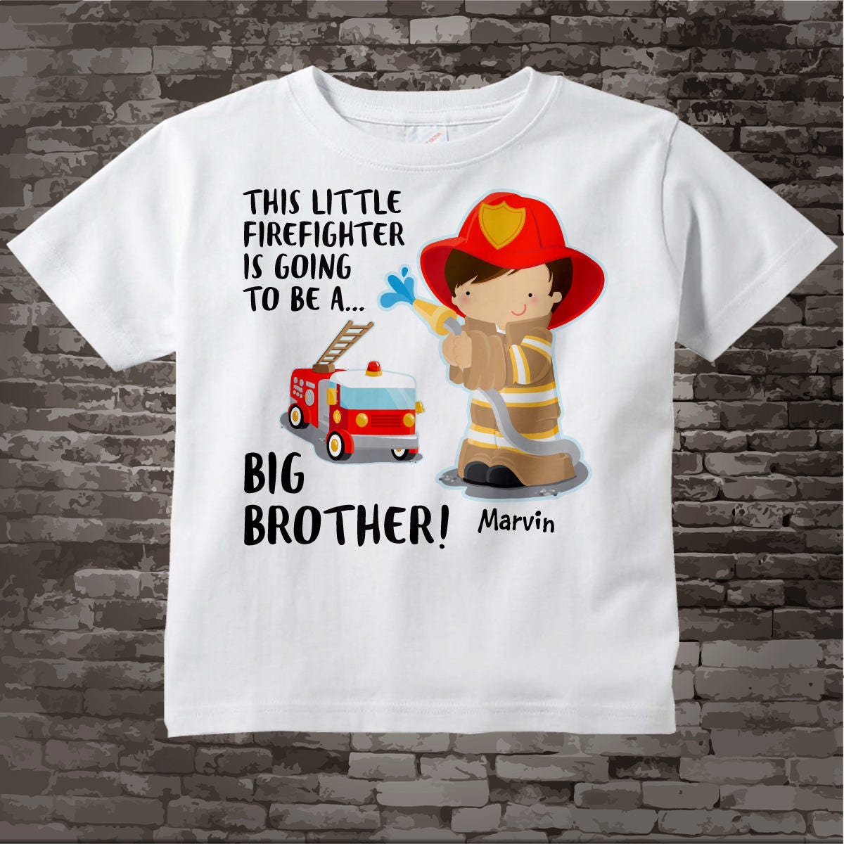 f486d8800 Big Brother Shirt I'm going to Be a Big Brother Firefighter Tee Shirt or ...