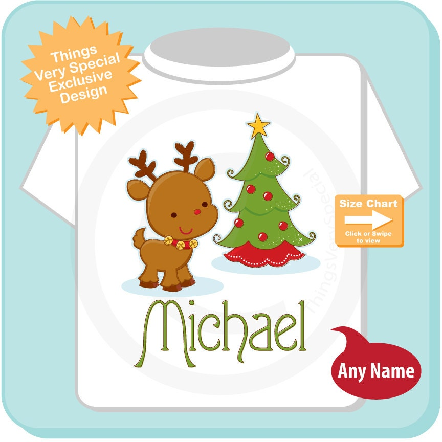 7cdba9bca ... Christmas Shirt or Bodysuit, Personalized Christmas Reindeer  (12052014a). gallery photo gallery photo