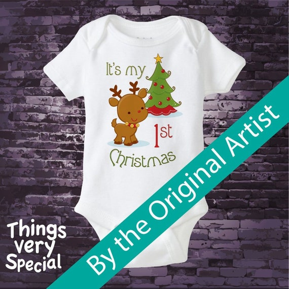 e437d9102 My 1st Christmas Onesie or shirt My First Christmas Shirt or | Etsy