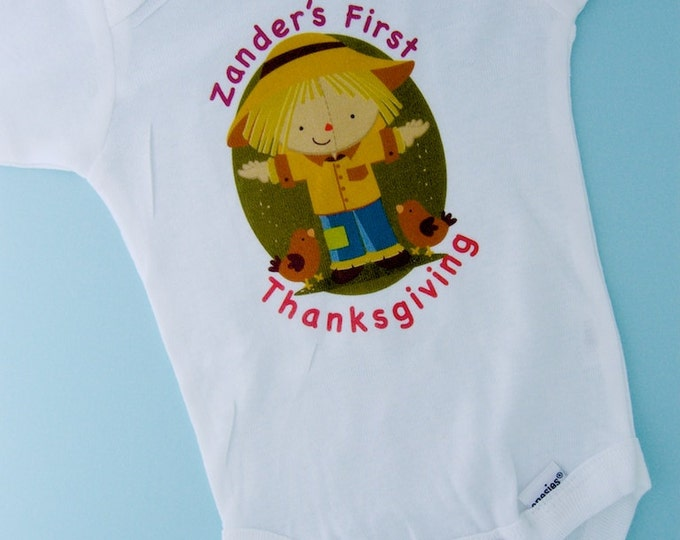 Personalized Baby - Baby's First Thanksgiving Outfit - Baby Boy Thanksgiving Onesie - Kids Thanksgiving - Baby Thanksgiving - boy's clothing