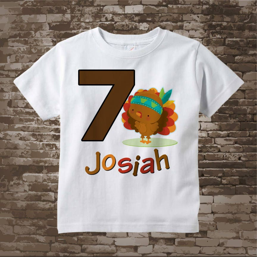 Seventh Thanksgiving Birthday Tee Shirt Turkey Seven 11152017c Gallery Photo