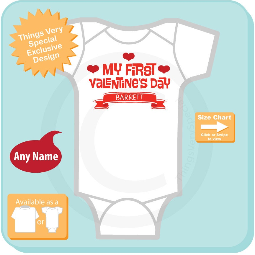 Baby Valentine Bodysuit First Valentines Day Outfit First