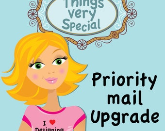 Priority Mail Shipping Upgrade Options available for purchases