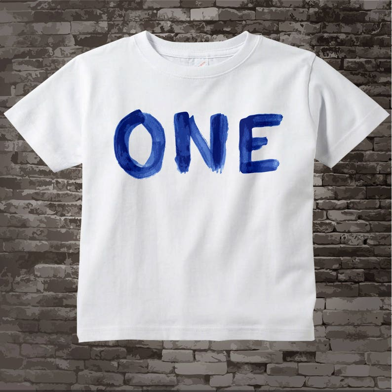 1 Year Old Birthday Boy Gift Shirt One