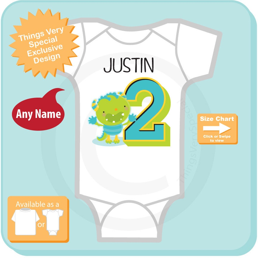 Second Birthday Outfit Baby Boy Personalized Gift