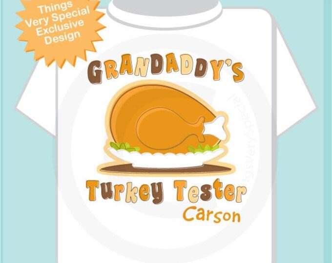 Thanksgiving Shirt - Turkey Shirt - Babys First Thanksgiving - Thanksgiving Outfit - Kids Thanksgiving outfit - Grandaddy's Turkey Tester