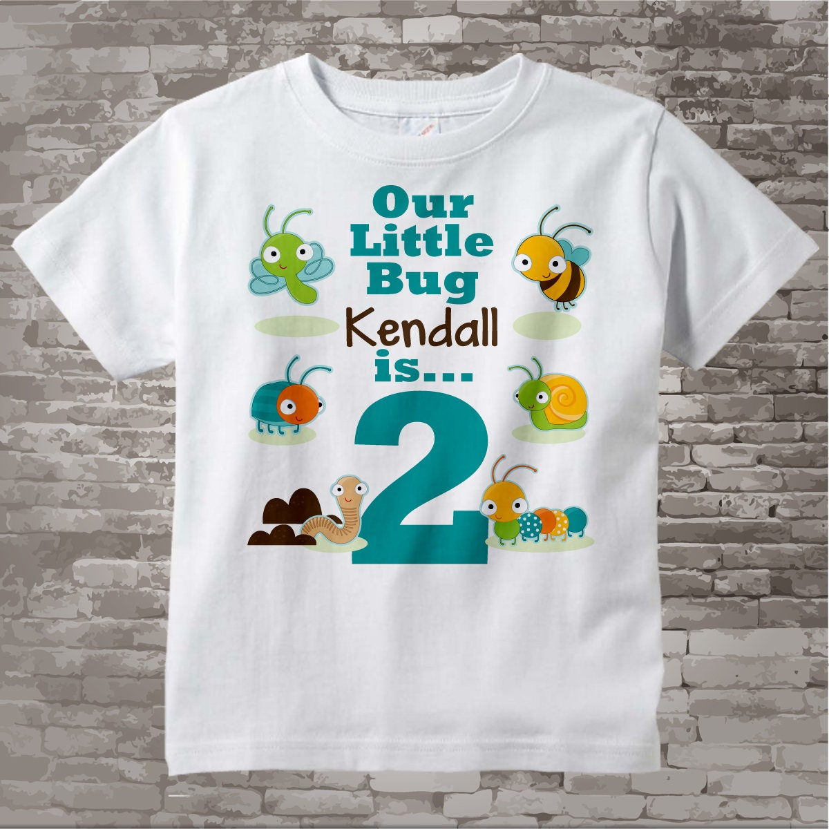 Boys Two Year Old Bug Birthday Shirt Or Onesie With Name 2nd Personalized Theme 05032017e Gallery Photo