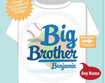 Baseball Big Brother Shirt - Boy's Big Brother Baseball theme Shirt - Personalized Baseball Big Brother - Sports Theme Shirt  07012015e