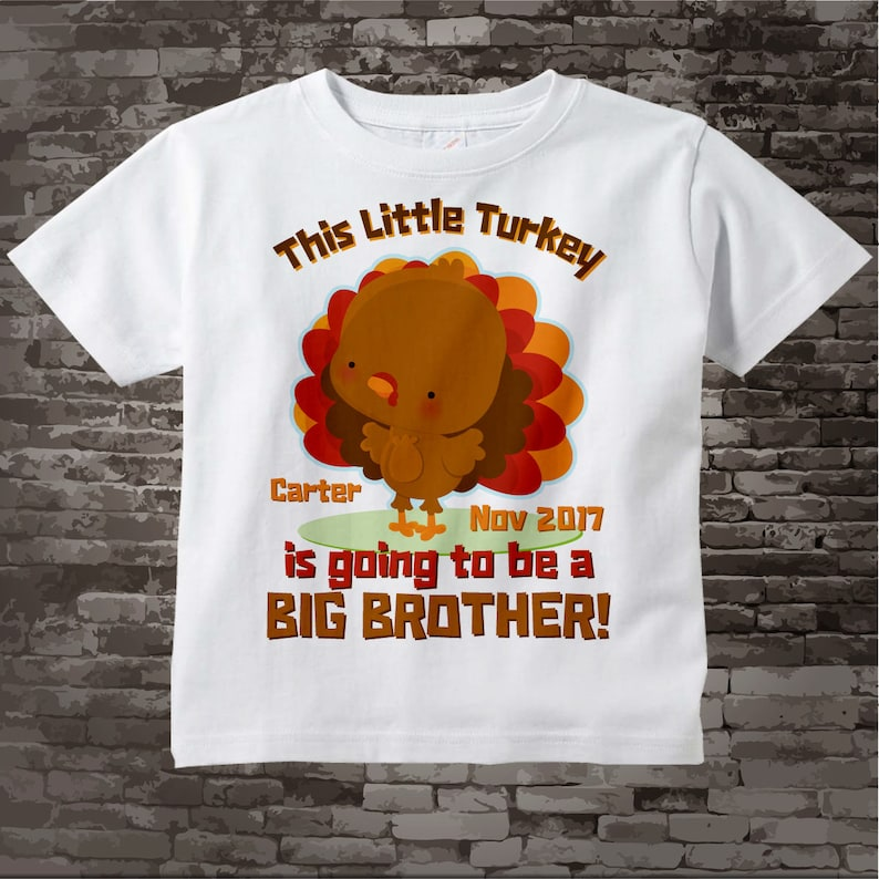 d712f95b4 Turkey Big Brother Onesie Thanksgiving Personalized This | Etsy