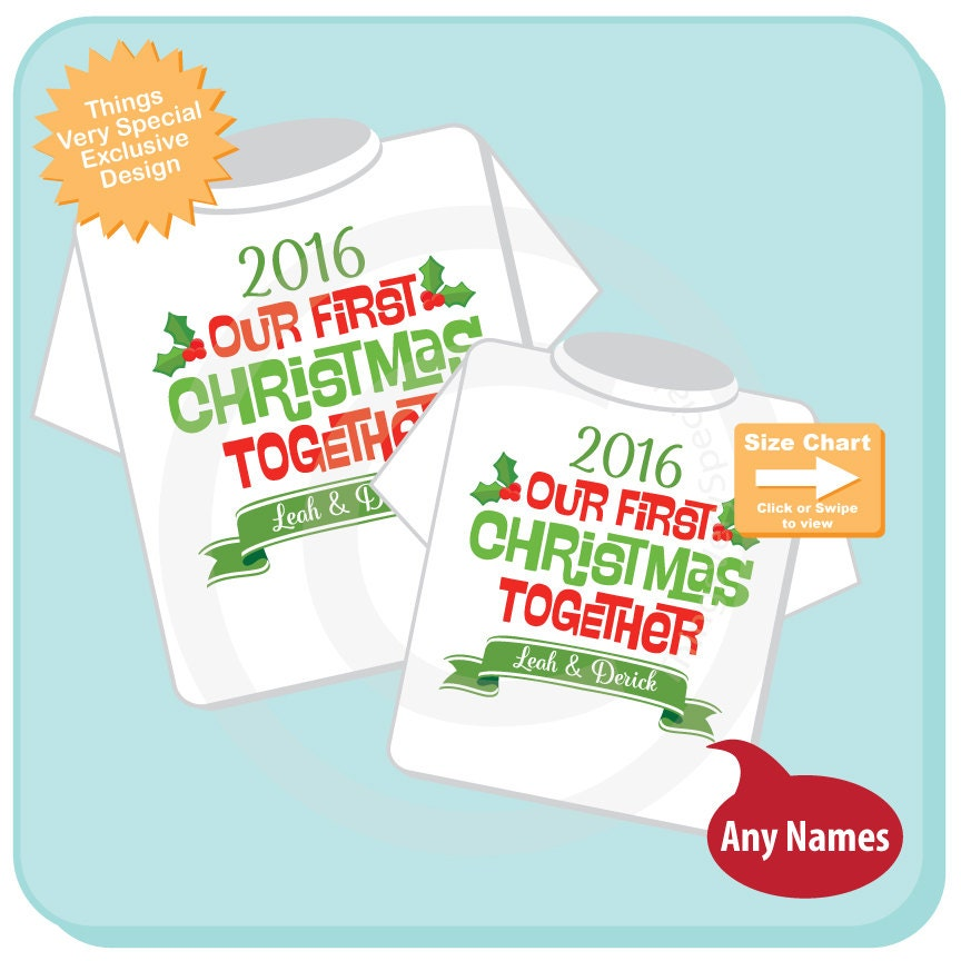 Matching Couple Christmas Shirts - Personalized tee shirts with Our ...