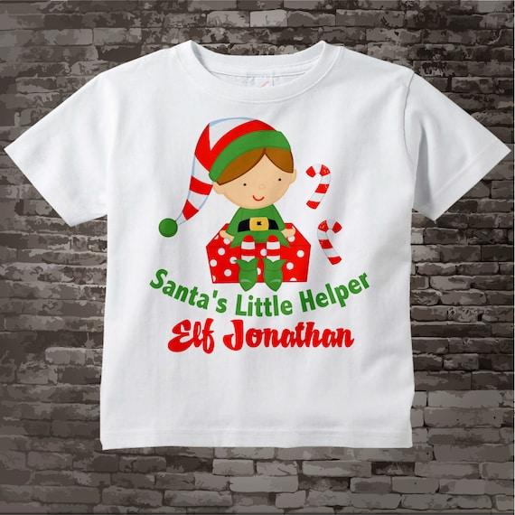 Elf In Training infant Toddler Tee white 4T