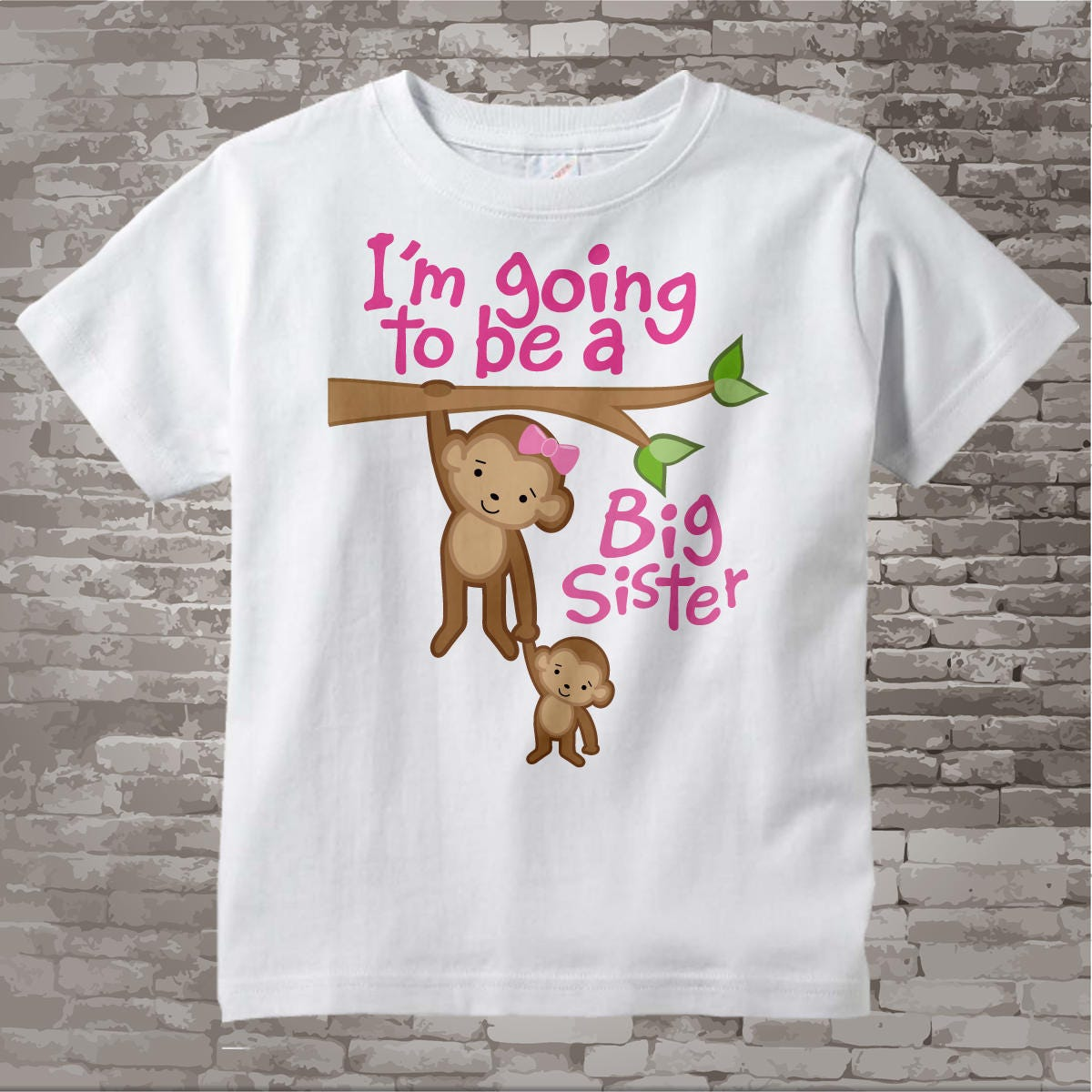 631 I/'m Going To Be A Big Sister T-shirt all Youth Sizes /& Colors