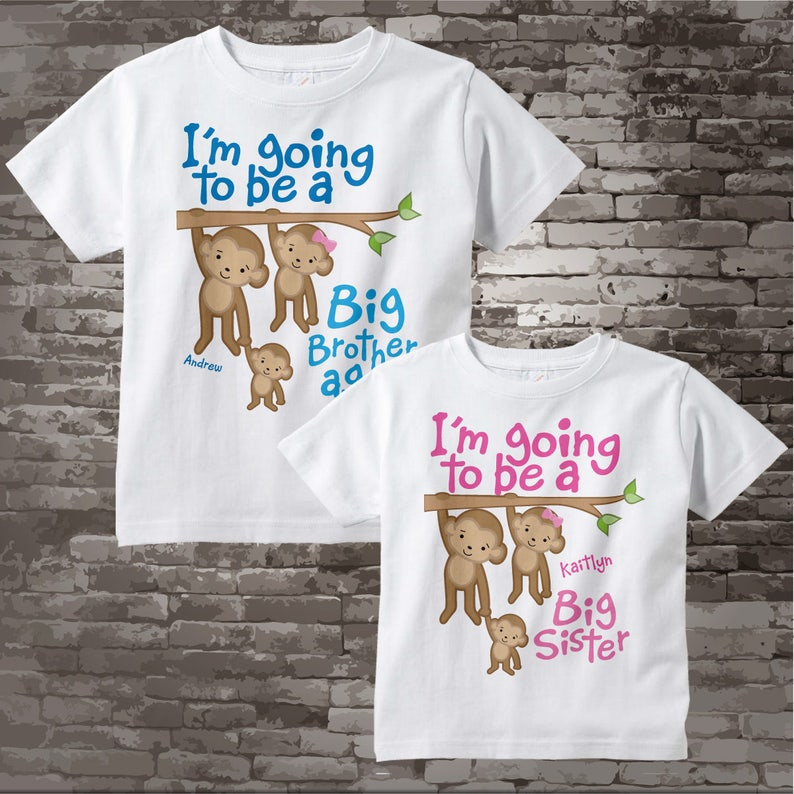 6fda83b5d I'm Going to Be A Big Brother Again Big Sister Shirt set   Etsy