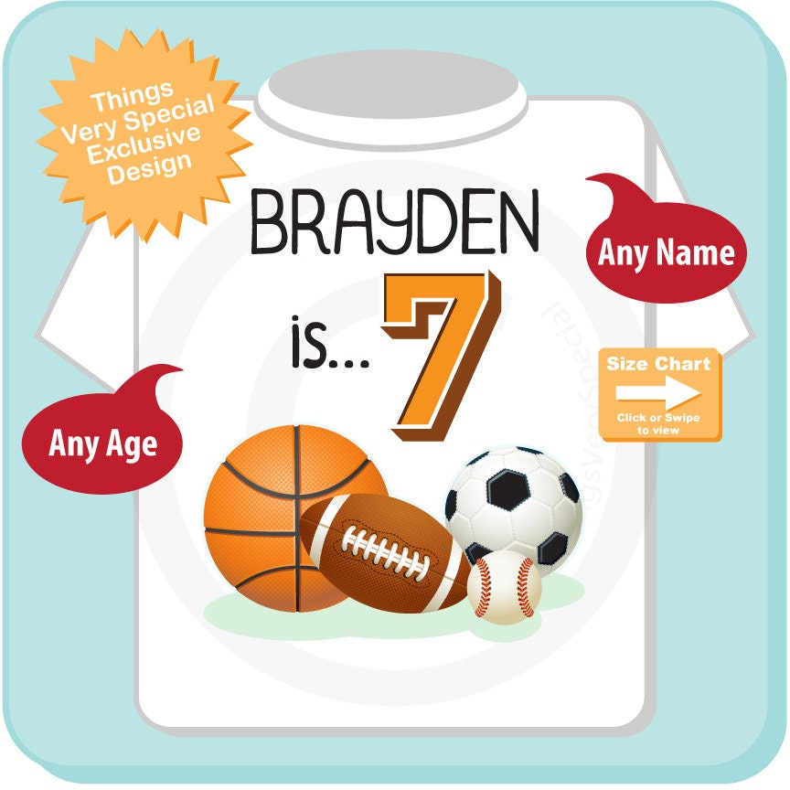 Sports Birthday Shirt