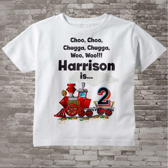 Birthday Boy Shirt 2nd Train Personalized