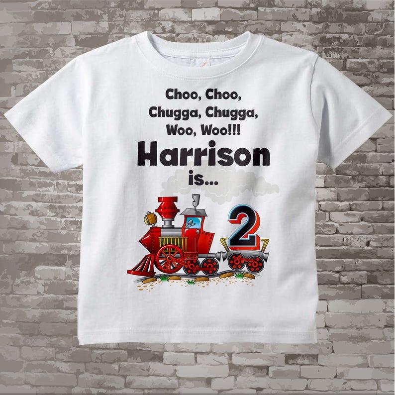 Birthday Boy Shirt 2nd Train Personalized