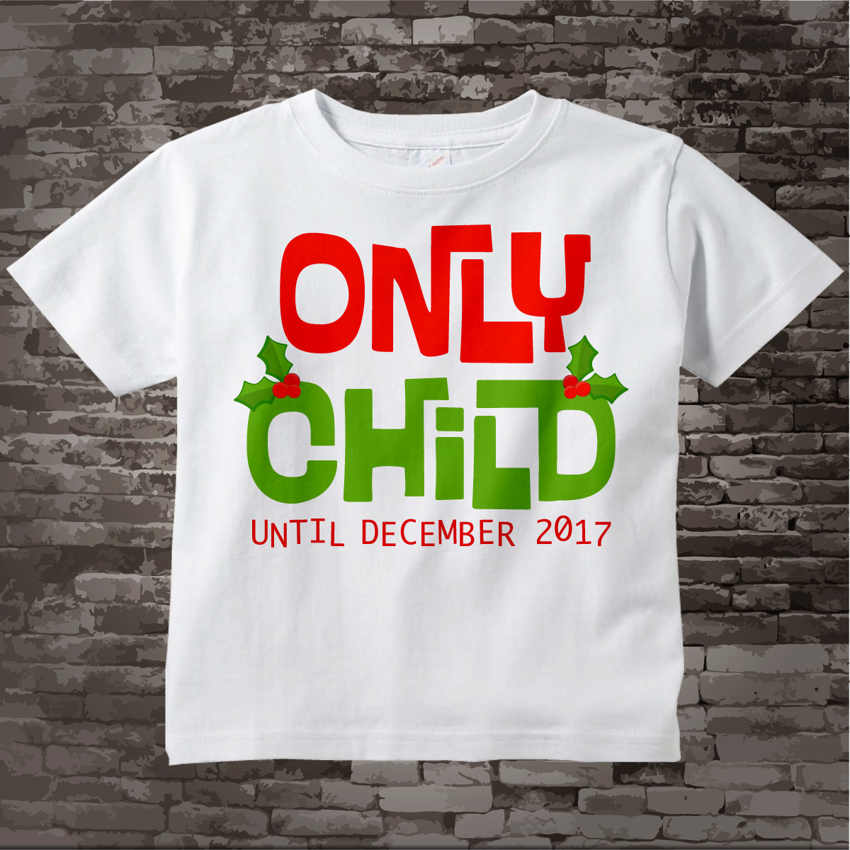 christmas pregnancy announcement christmas baby announcement pregnancy reveal announcement only child shirt 11272012c
