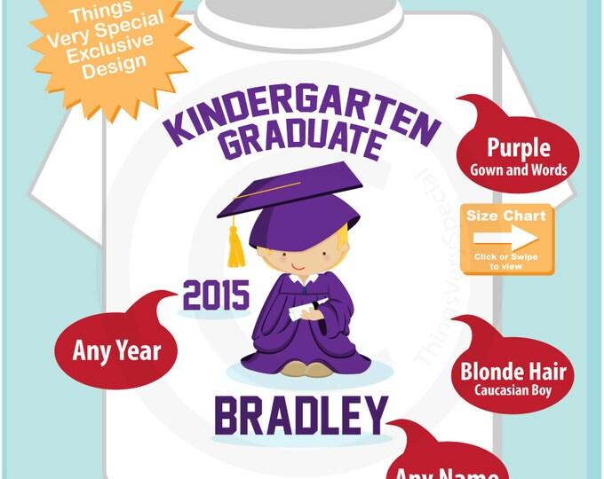 Personalized Kindergarten Graduate Shirt, Cute Boy Kindergarten Graduate Shirt 04132015j