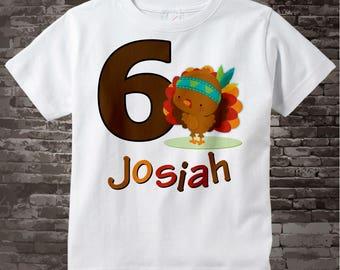 6th Birthday shirt, 6 year old Thanksgiving Birthday t-shirt, Sixth Thanksgiving Birthday tee shirt, Turkey six birthday shirt 10302017a
