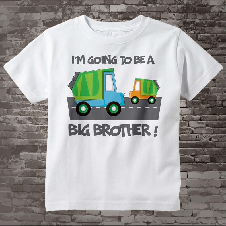 65fcd3c6 Big Brother shirt Garbage Truck Big Brother Shirt or Onesie | Etsy