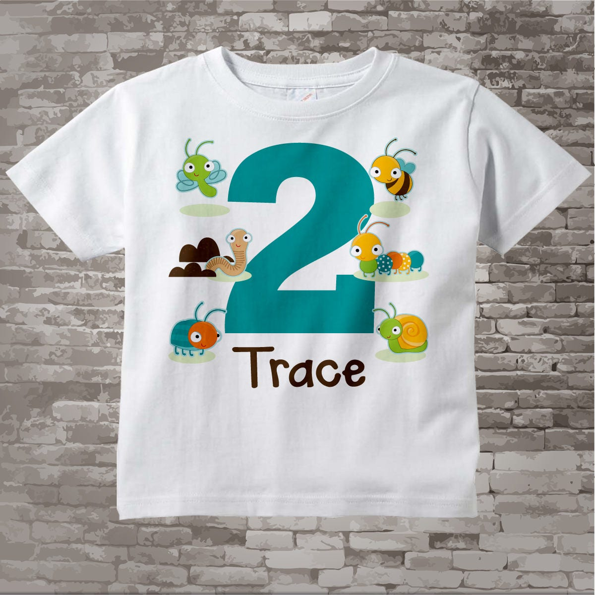 fc9cd056f Boy's Two Year Old Bug Birthday Shirt or Onesie with Name, 2nd Birthday  Shirt, Personalized Bug Birthday Theme 05122017b. gallery photo gallery  photo