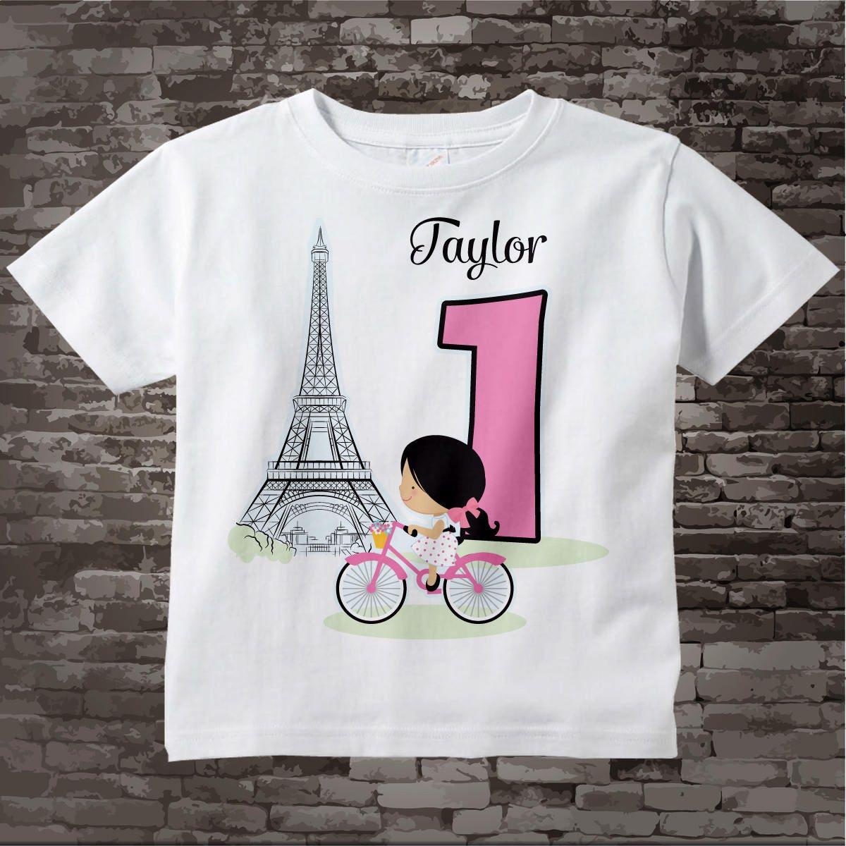 Paris First Birthday Onesie Bodysuit Or Shirt 1 Year Old Girl Gift 10172017c