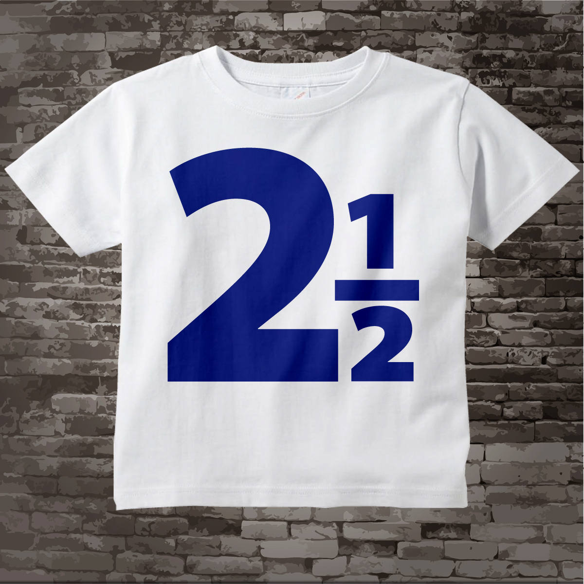 2 And A Half Birthday Shirt Two Year Old Blue Number Boy Design Tee 02122014d