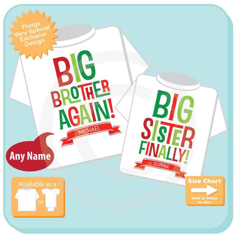 177425e18 Matching Christmas Shirts Big Brother Again Big Sister | Etsy