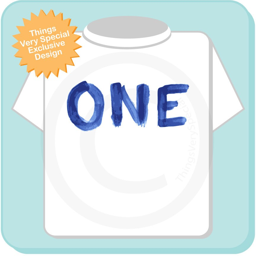 One Year Old Birthday Blue Shirt Personalized Boy Design Short Or Long Sleeve 05022014g Gallery Photo