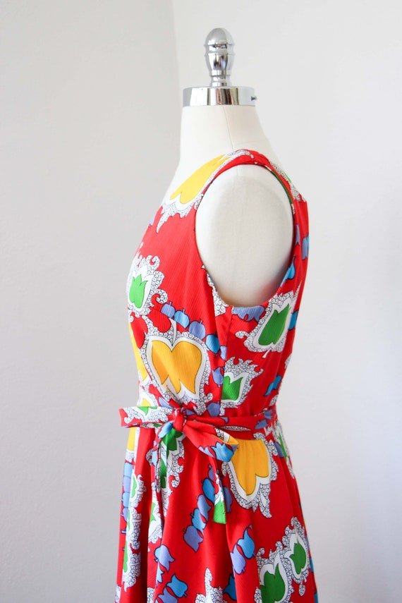 1970s Dress - Vintage 70s Dress - Jaunty Rainbow … - image 6