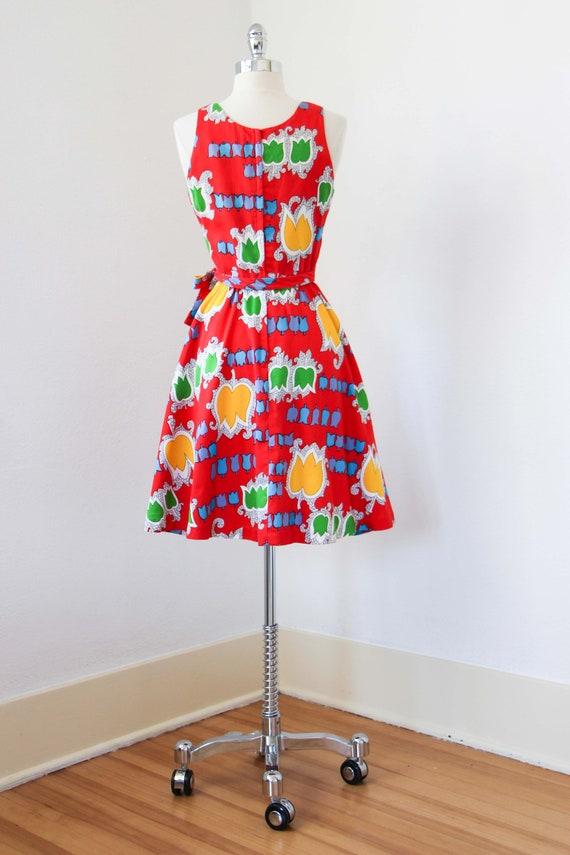1970s Dress - Vintage 70s Dress - Jaunty Rainbow … - image 8