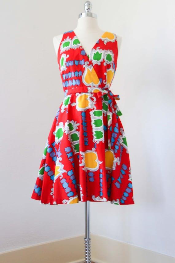 1970s Dress - Vintage 70s Dress - Jaunty Rainbow … - image 3
