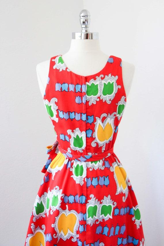 1970s Dress - Vintage 70s Dress - Jaunty Rainbow … - image 7